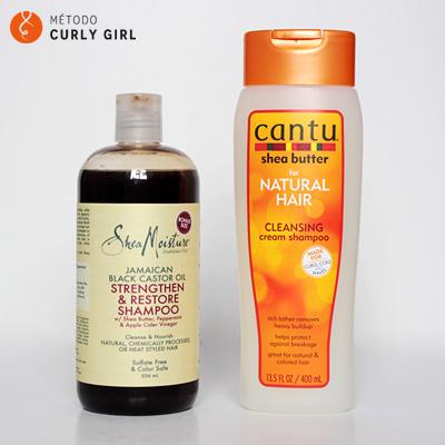 Champús clarificantes método Curly Girl