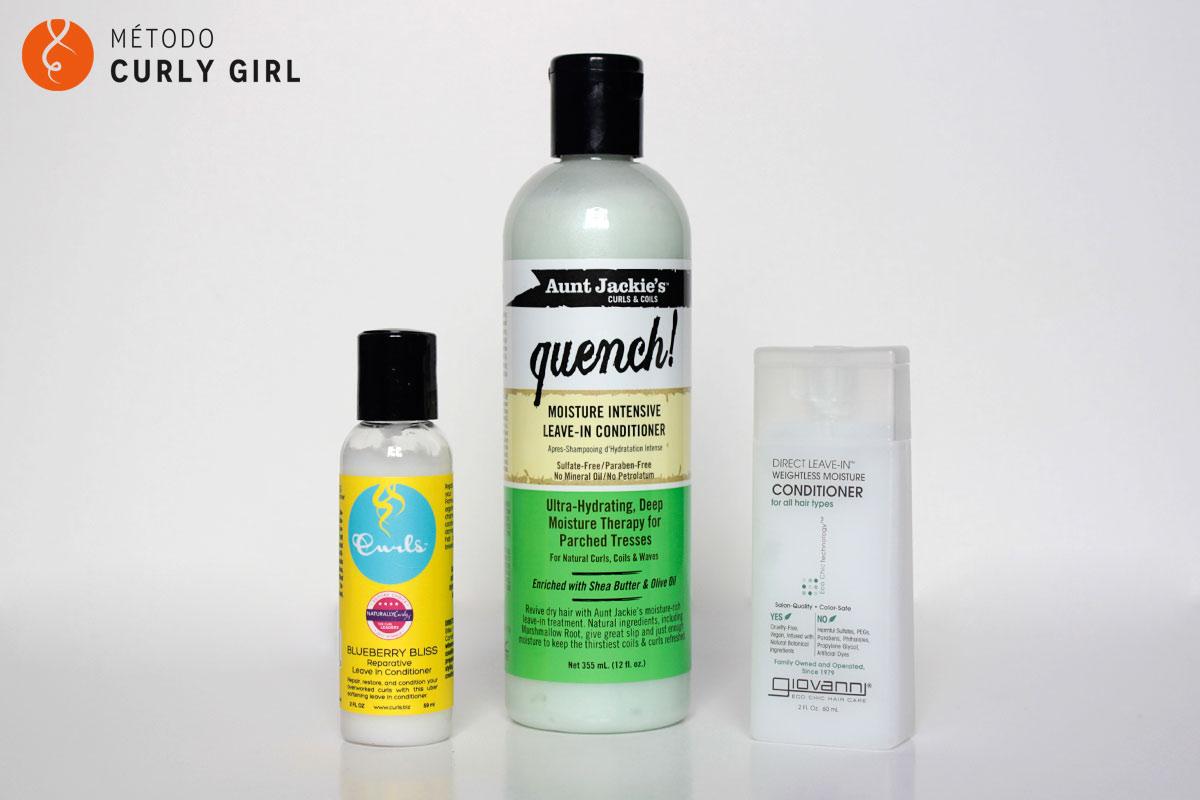 Leave-in aptos para el método Curly Girl
